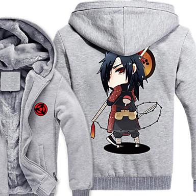 Inspirado por Naruto Naruto Uzumaki Anime Fantasias de Cosplay Hoodies cosplay Estampado Manga Longa Blusa Para Masculino
