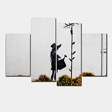 Estampados de Lonas Esticada Moderno 4 Painéis Horizontal Decoração de Parede For Decoração para casa