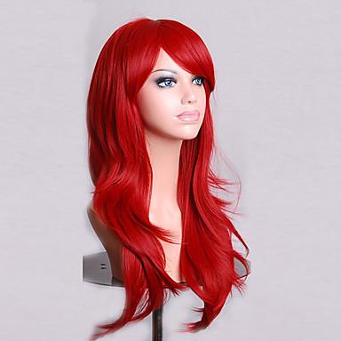 Synthetische Perücken Natürlich gewellt Rot Damen Kappenlos Karnevalsperücke Halloween Perücke Kostüm-Perücke Synthetische Haare