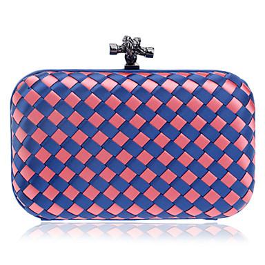 Damen Taschen Polyester Abendtasche Knöpfe Blau / Rosa / Hellblau