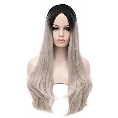 neue Ankunft Europa schwarz und grau hitzebeständig Haar synthetische Perücken