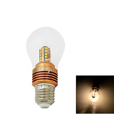5W E26/E27 LED gömbbúrás izzók CA35 25 SMD 2835 400 lm Meleg fehér Dekoratív AC 85-265 / AC 220-240 / AC 110-130 V 1 db.