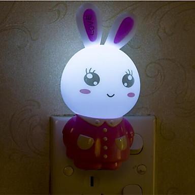 luova lämmin valkoinen kani valoanturi liittyvät vauva nukkumaan yövalo