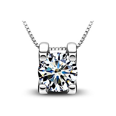 Modische Halsketten Anhängerketten Schmuck Alltag / Normal Geburtssteine Sterling Silber Silber 1 Stück Geschenk