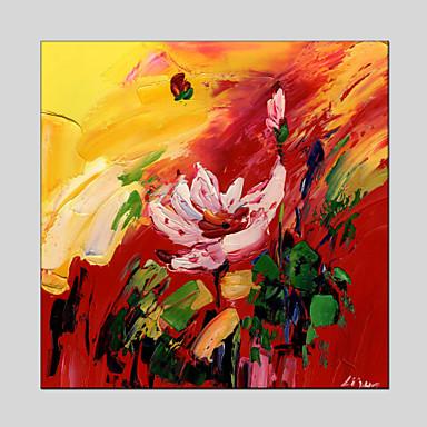 Kézzel festett AbsztraktModern / Klasszikus / Tradicionális / Rusztikus / Európai stílus Egy elem Vászon Hang festett olajfestmény For