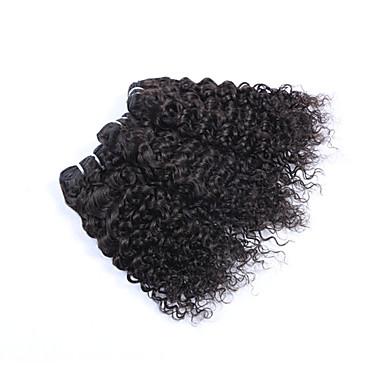Menschenhaar spinnt Brasilianisches Haar Kinky Curly 6 Monate 3 Stück Haar webt