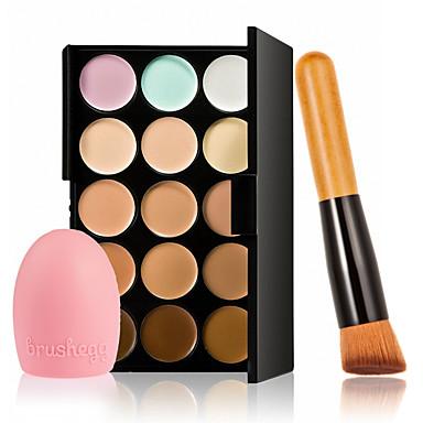 15 Concealer/Contour Make-up Pinsel Nass Gesicht Weiß machen Abdeckung Concealer Unebener Hautton Natürlich Porenreduzierung Atmungsaktiv