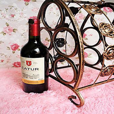 prijenosni pet boca crnog vina od kovanog željeza kreativni modni rack antički brončani