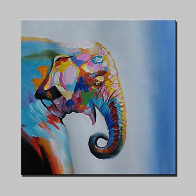 Handgemalte Abstrakt / Tier / Cartoon Design / POPModern Ein Panel Leinwand Hang-Ölgemälde For Haus Dekoration