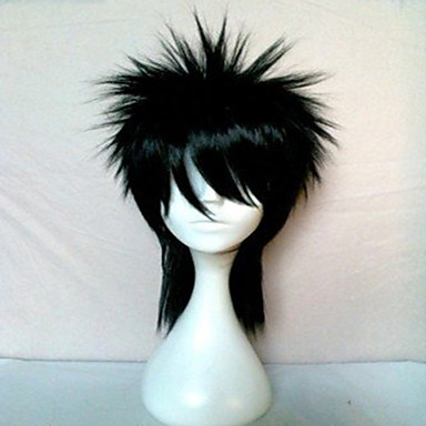 Costume Wigs / Synthetic Wig Straight / Wavy Black Women's Carnival Wig / Halloween Wig / Black Wig Synthetic Hair