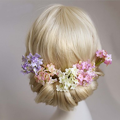 szövet ötvözet haj tüskeszelet esküvői party elegáns női stílus