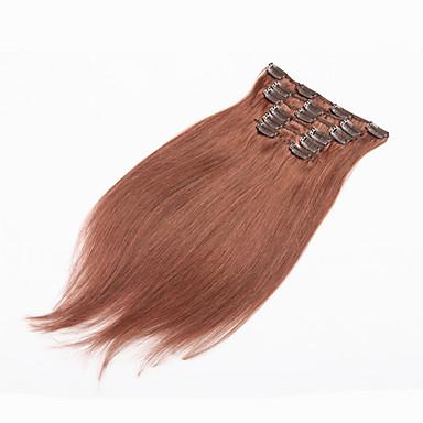 klip i human hair extensions brasiliansk hår klippet i hair extensions menneskehår klip i forlængelse