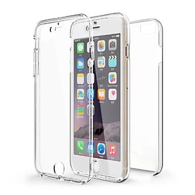 Para iPhone X iPhone 8 iPhone 6 iPhone 6 Plus Case Tampa Antichoque Transparente Corpo Inteiro Capinha Côr Sólida Macia PUT para iPhone X