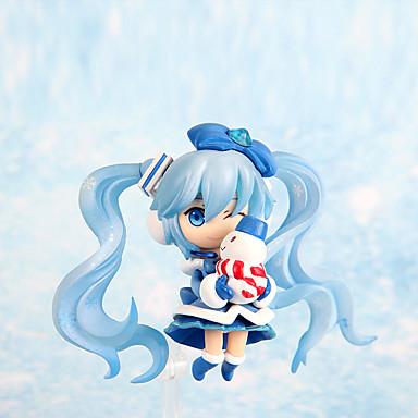 Anime Toimintahahmot Innoittamana Cosplay Snow Miku PVC 7 CM Malli lelut Doll Toy