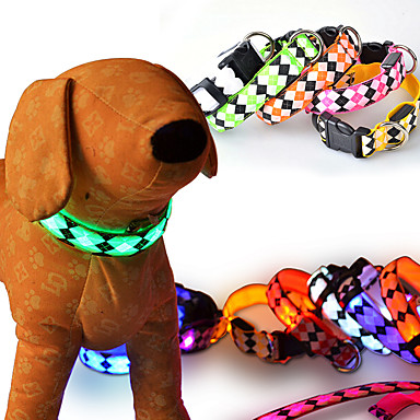 חתול כלב שַׁרשֶׁרֶת בגדים לכלבים LED אופנתי אחיד אדום ירוק כחול ורוד צבע אקראי תחפושות עבור חיות מחמד