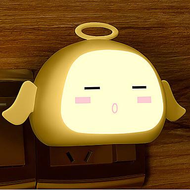 sensor de anjo da luz branca quente criativo relativo à luz bebê noite de sono (cores sortidas)