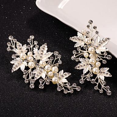 abordables Coiffes-Perle / Cristal / Alliage Pince à cheveux avec 1 Mariage / Occasion spéciale Casque