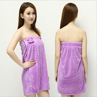 1 stk nye kvinner dame koraller fløyel myk bh bow badekar badekåpe håndkle skjørt kjole