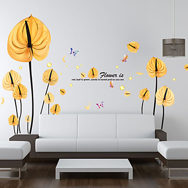 Mode Blumen Fantasie Wand-Sticker Flugzeug-Wand Sticker Dekorative Wand Sticker Stoff Abziehbar Haus Dekoration Wandtattoo