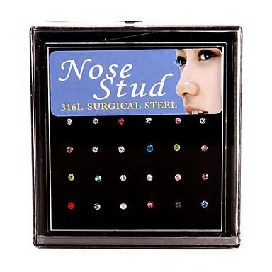 תכשיטי גוף/טבעות לאף פירסינג באף פלדת על חלד סגנון בוהמיה מוזהב 1set