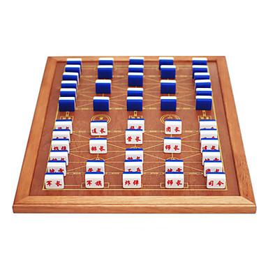 נחת להעביר חומרים אקריליק צבאיים ימיים גדולים סט שחמט לוח קצה מוצק עץ חבילה 3.7 זהב שחור + לוח