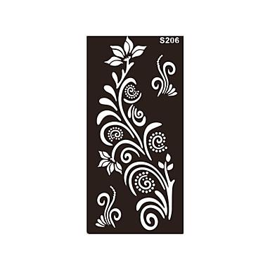 1pc art corporel grand tatouage fleur mignon impression design dessin au henné pochoir autocollant de tatouage temporaire s206