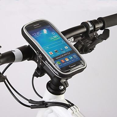 ROSWHEEL Sacoche de Guidon de Vélo Sac de téléphone portable 4.8 pouce Résistant à l'humidité Zip étanche Vestimentaire Ecran tactile