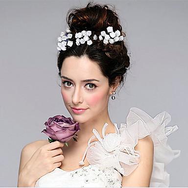 Mulheres Tecido Capacete-Casamento Ocasião Especial Flores Cabelo da vara 1 Peça