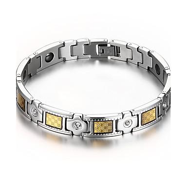 Herrn Ketten- & Glieder-Armbänder Magnettherapie Luxus-Schmuck Edelstahl Diamantimitate Schmuck Für Alltag Normal Weihnachts Geschenke