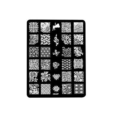 1pc Nagel Druck quadratische Stahlplatte