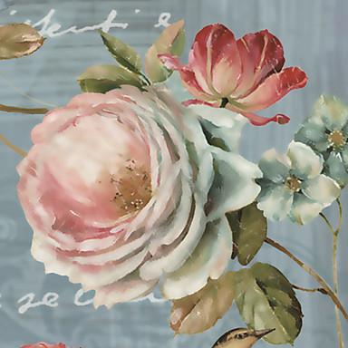 Blumen Haus Dekoration Moderne Wandverkleidung, Segeltuch Stoff Klebstoff erforderlich Wandgemälde, Zimmerwandbespannung