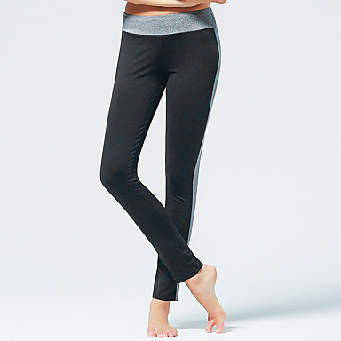Yoga-Hose Hosen/Regenhose Atmungsaktiv Normal Dehnbar Sportbekleidung Schwarz DamenYoga Pilates Übung & Fitness Freizeit Sport