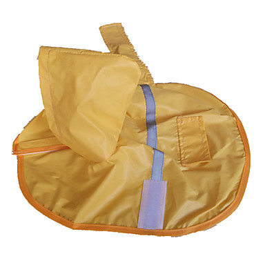 Dog Rain Coat Dog Clothes Waterproof Yellow Costume For Pets