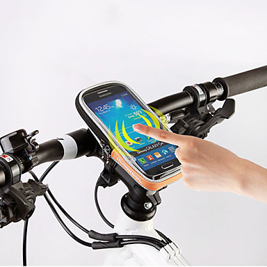 ROSWHEEL Bolso del teléfono celular / Bolsa para Manillar 5.5 pulgada Pantalla táctil Ciclismo para Samsung Galaxy S6 / iPhone 5C / iPhone 4/4S Negro / iPhone 8/7/6S/6 / Cremallera a prueba de agua