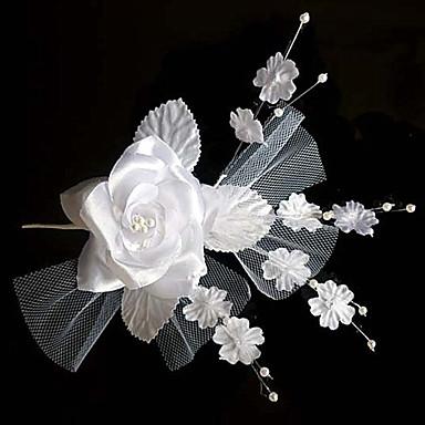 Damen Tüll Stoff Kopfschmuck-Hochzeit Besondere Anlässe Blumen Haar-Stock 1 Stück