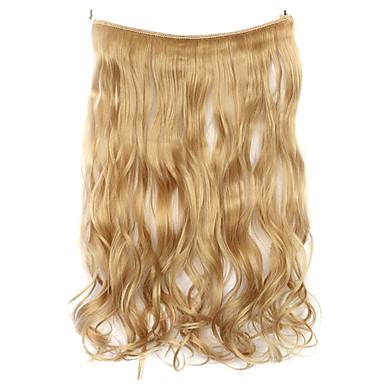 cor peruca de ouro 45 centímetros sintética fio de alta temperatura encaracolados pedaço de cabelo 25