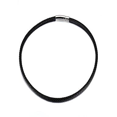 בגדי ריקוד גברים נשים שרשרת Circle Shape פלדת על חלד עור יום יומי אופנתי תכשיטים עבור יומי קזו'אל