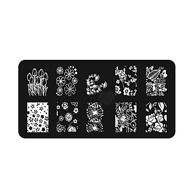 1pcs Nagelstempel Schick & Modern / Modisch Nagel-Kunst-Design Alltag