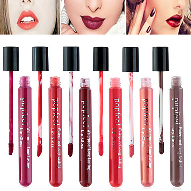 Make-up Utensilien Flüssigkeit Lipgloss 1 pcs Trocken / Nass / Matt Wasserdicht / Schnelles Trocknung / Feuchtigkeit Bilden Kosmetikum Alltag Pflegezubehör