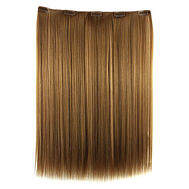 goldbraun 52cm hohe Temperaturdrahtlänge glattes Haar synthetische Haarverlängerung Perücke