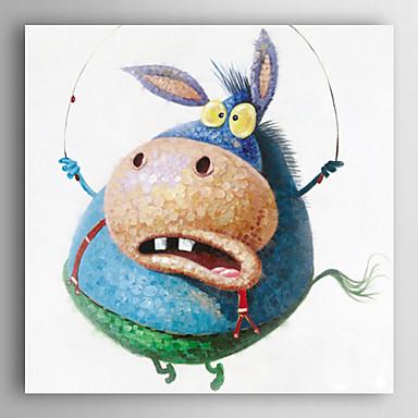 יד בעלי חי ציור צבוע שמן בעלי חיים מצחיקים של חבל קפיצה עם מסגרת מתוחה