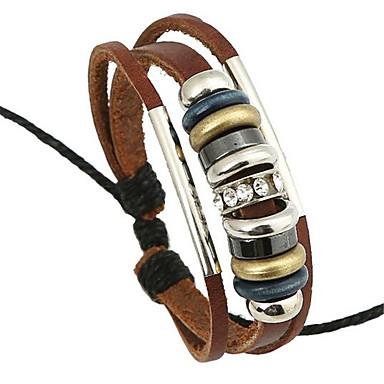 Herrn Damen Strang-Armbänder Lederarmbänder Leder Aleación Hellbraun Schmuck Für Hochzeit Party Alltag Normal Sport 1 Stück