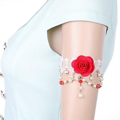 Damen Körperschmuck Armreif Körper-Kette / Bauchkette Spitze Weiß Sexy Modeschmuck Für Alltag Normal Sommer