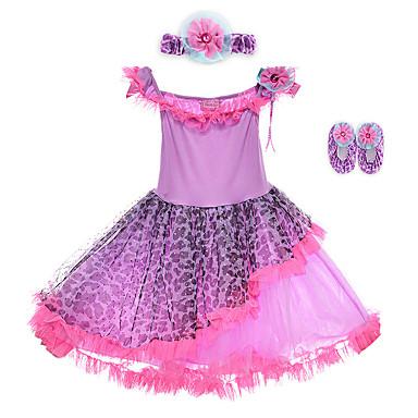 Aufführung-Kleider(Purpur,Elastan / Polyester,Aufführung) - fürKinder Kopfbedeckungen / Kleid Ärmellos