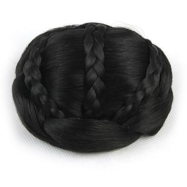 verworrene lockige schwarze europa Braut Perücken menschliches Haar capless Chignons sp-189 2