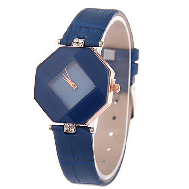 Damen Modeuhr Quartz Armbanduhren für den Alltag Leder Band Charme Schwarz Weiß Rot Lila