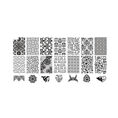 Tampons Ongles  Modèle d'image Plaques Pochoir
