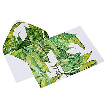 Aquarell verlässt letter set Umschlag (2 Umschlag 4 Briefpapier, Briefpapier Umschlag 16,2 * 11,4 cm, 15,9 * 22, gelegentliche Farbe)