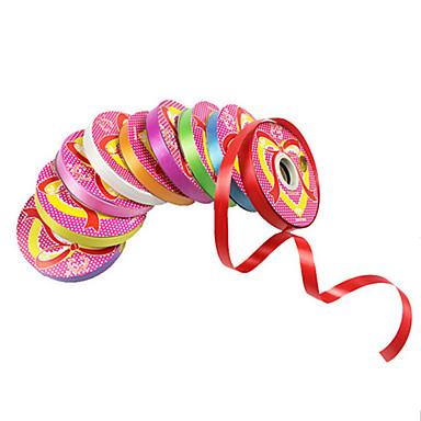 1pcs coloré ruban 1.2cm large solides rubans de décoration festival de couleur chaîne ornement de fête d'anniversaire pas cher (couleur