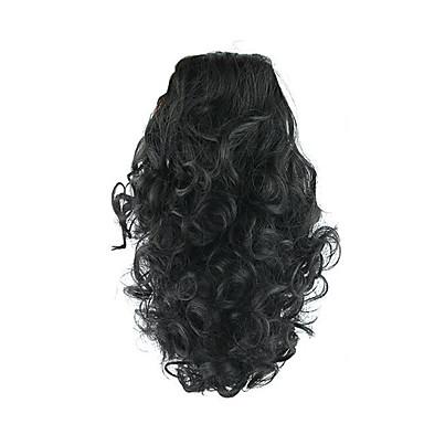 Con Clip Coletas Elástico Garra de oso / clip de mandíbula Pelo sintético Pedazo de cabello La extensión del pelo Rizado